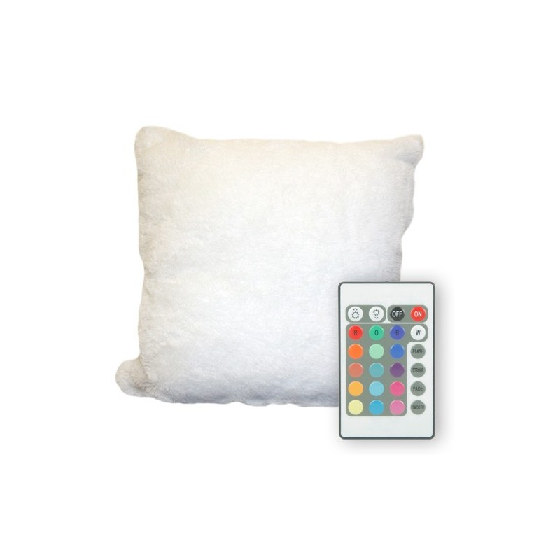 Cuscino Luminoso cambia colore con telecomando