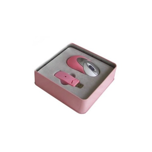 Kit Rosa per PC  mouse Bluetooth con ricevitore USB