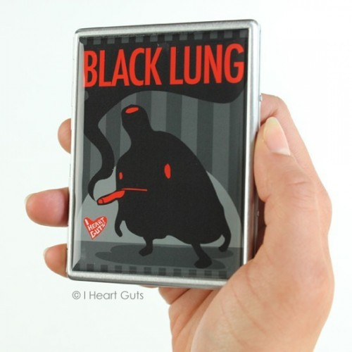 Portasigarette polmone nero