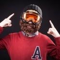 Cappello con barba crespa Beardo nero marrone bambino