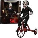 Pupazzo SAW bambola su triciclo FILM ENIGMISTA PARLANTE