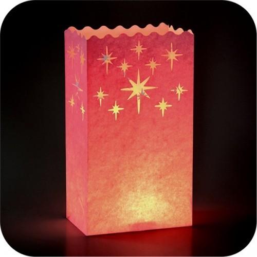 Lanterna decorativa porta candele Rosa 10pz