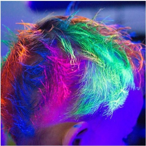 Gel UV fluorescente capelli