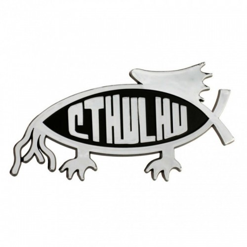 Adesivo auto Cthulhu pesce