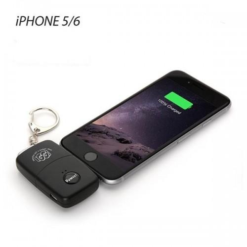 Portachiavi carica smartphone emergenza IPhone