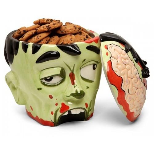 Porta biscotti testa zombie