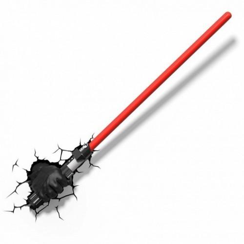 Lampada da muro Darth Vader spada laser