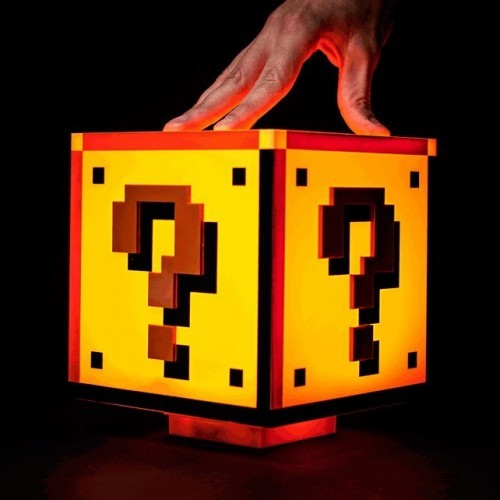 Lampada Super Mario cubo interrogativo