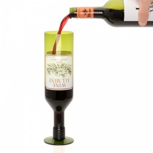 Bicchiere bottiglia di vino