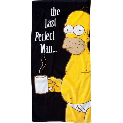 Asciugamano Homer Simpson last perfect man