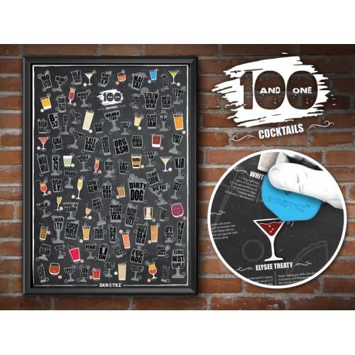 Poster 101 Cocktail da grattare