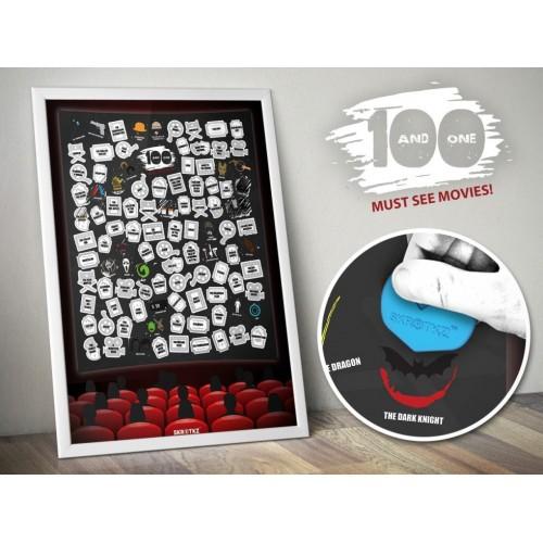 Poster 101 film da grattare