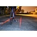 LED Laser di sicurezza per bici