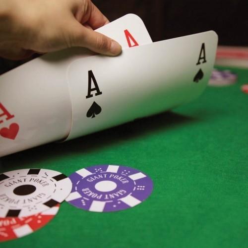 Mazzo carte giganti poker