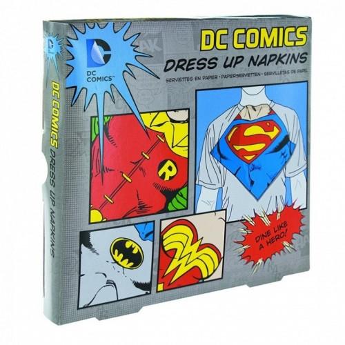 Tovagliolini di carta supereroi DC Comics