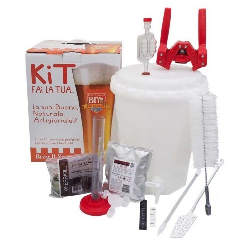 Mini Kit Birra BIY - Brew It Yourself - LUX - 10 lt - Ferrari