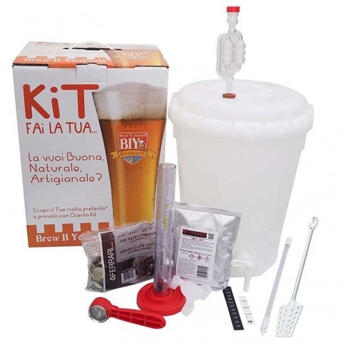 Mini Kit Birra BIY - Brew It Yourself BASE 10 lt - Ferrari