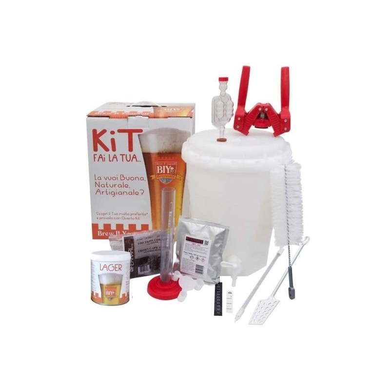 Mini Kit Birra - BIY - Brew It Yourself  LUX PLUS con Malto - 10 litri