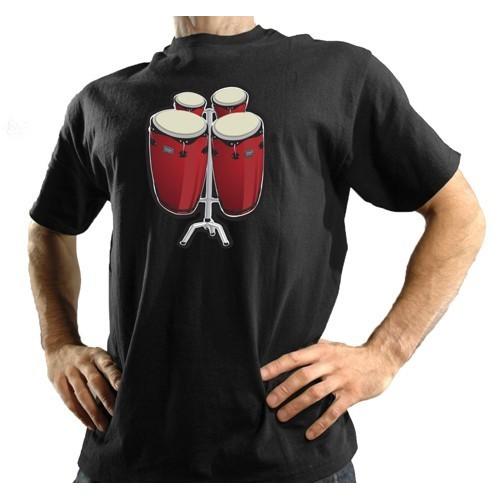 T-SHIRT maglietta bongo elettronica suona davvero