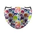Mascherina Lavabile Fantasia Colorata con Spazio per Filtro Sostituibile