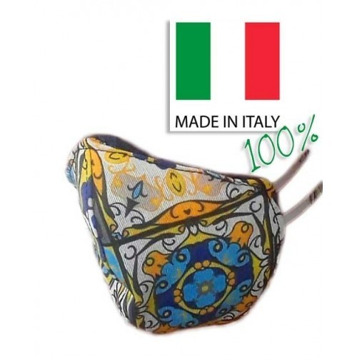 Mascherina Made in Italy Lavabile Double Face