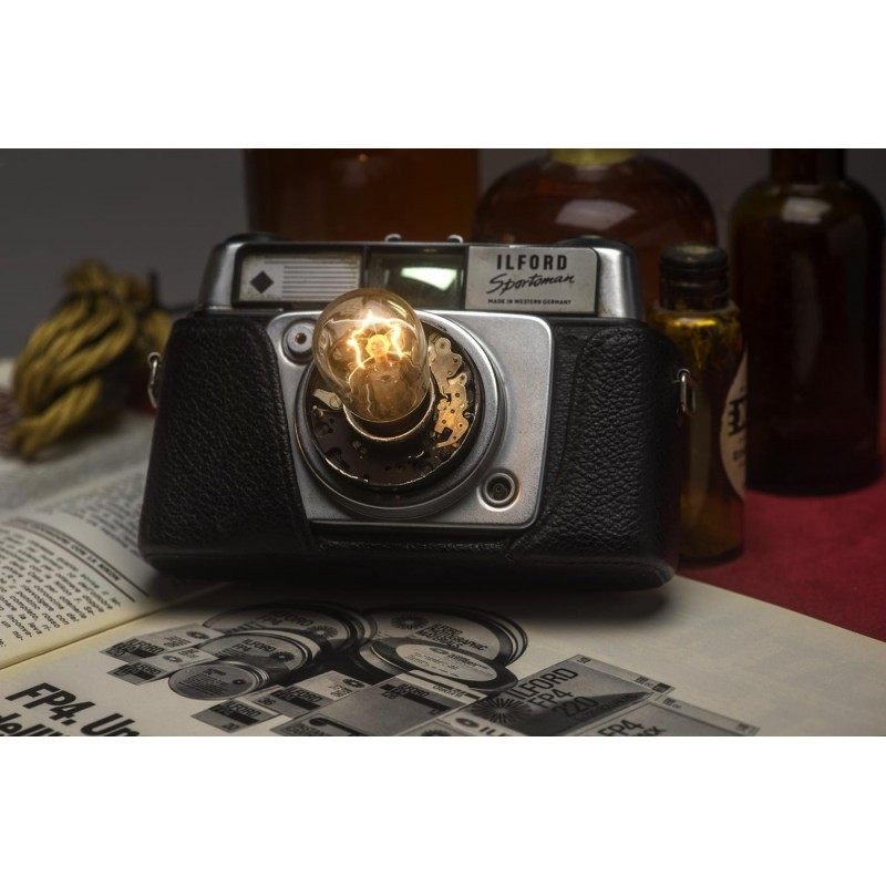 EUREKA LAMP Lampada da Scrivania Macchina Fotografica Ilford 35mm