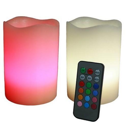 Kit 2 Candele Luminose a Led cambia colore con telecomando