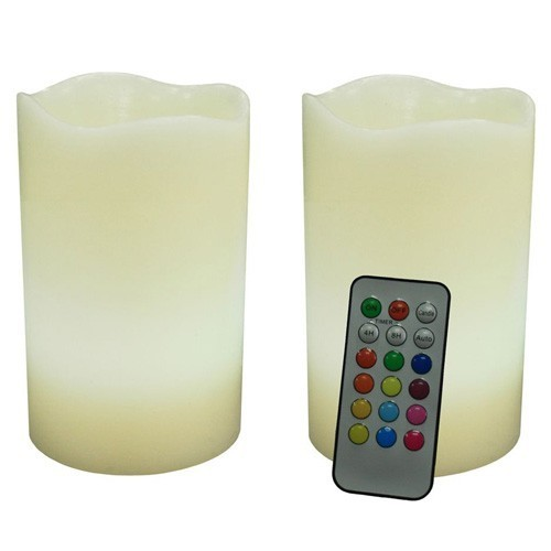Kit 2 Candele Luminose a Led cambia colore con telecomando