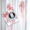 Tendina insanguinata da bagno SERIAL KILLER