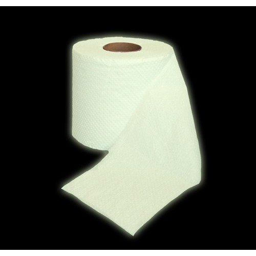 Carta Igienica fluorescente luminosa al buio