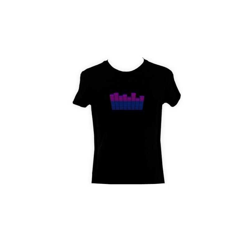 Maglietta Luminosa T-shirt reagisce al suono T-Qualizer V2