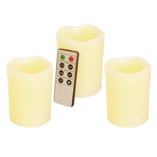 Kit 3 candele in CERA a LED gusto Vaniglia