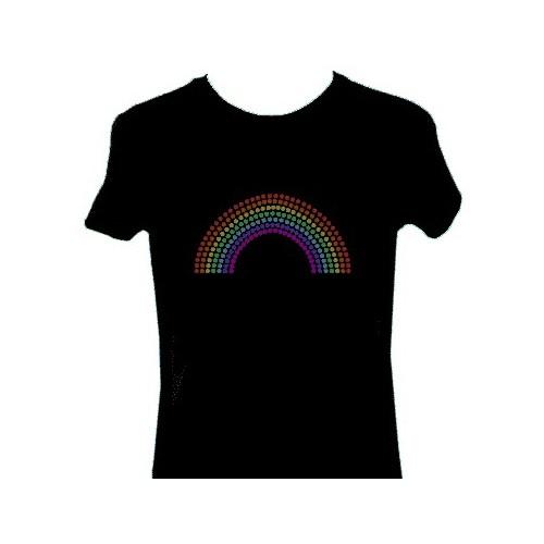 Maglietta Luminosa Discoteca Arcobaleno