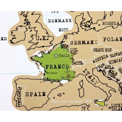Poster mappamondo planisfero da grattare