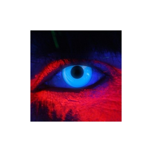 Lenti a contatto colorate UV occhi blu discoteca