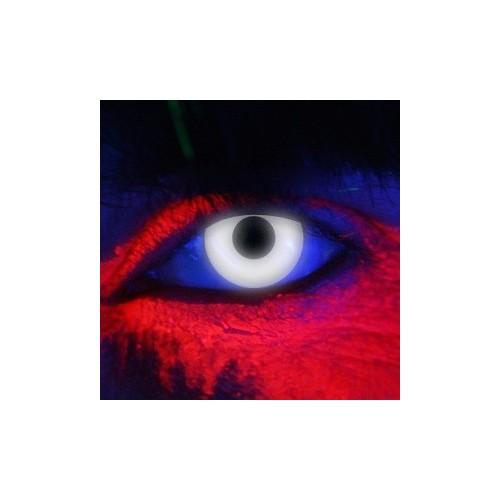 Lenti a contatto colorate UV occhi BIANCHI discoteca