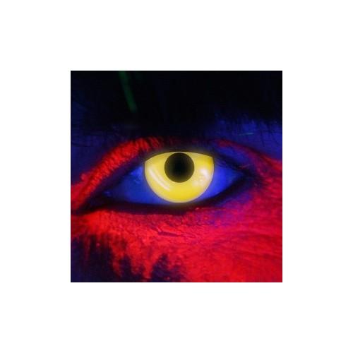 Lenti a contatto colorate UV occhi gialli discoteca