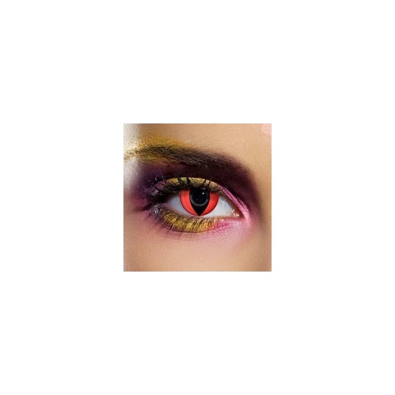 Lenti a contatto colorate Occhi di Gatto rosse