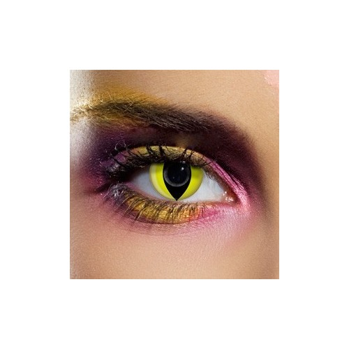 Lenti a contatto colorate Occhi di Gatto giallo