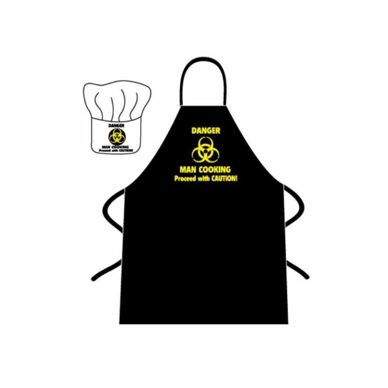 Grembiule da cucina Danger Man cooking
