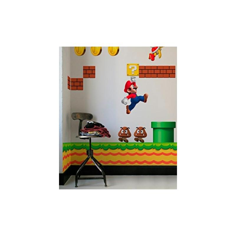 Adesivi Murali Super Mario.Decorazione Autoadesiva Supermario New