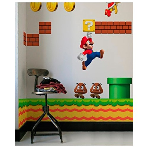 Decorazione autoadesiva Supermario New
