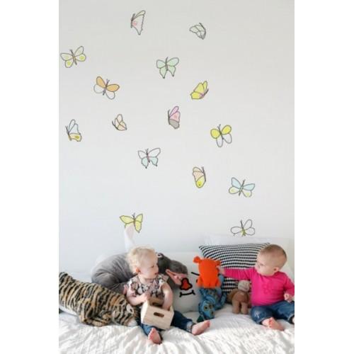 Decorazione autoadesiva farfalle