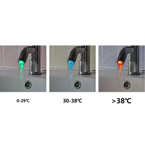 Sensore di temperatura per il lavandino ROSSO VERDE BLU