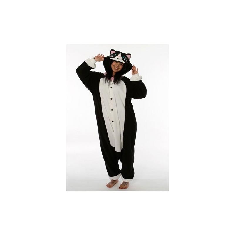 gato negro Kigurumi de Pijama japonés completo XPkwOiZuT