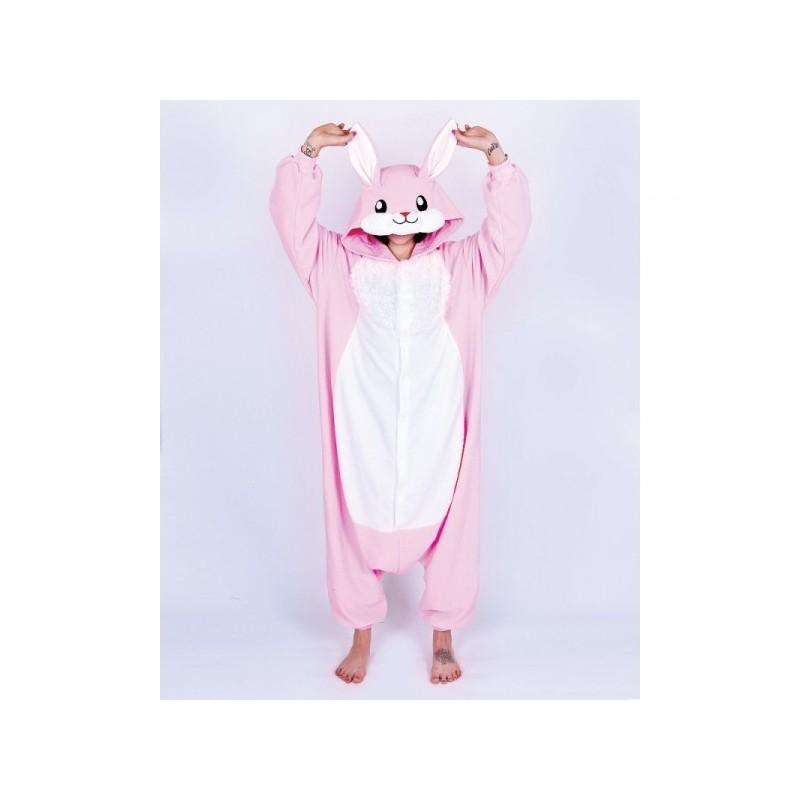 Pigiama intero giapponese Kigurumi Coniglio Rosa