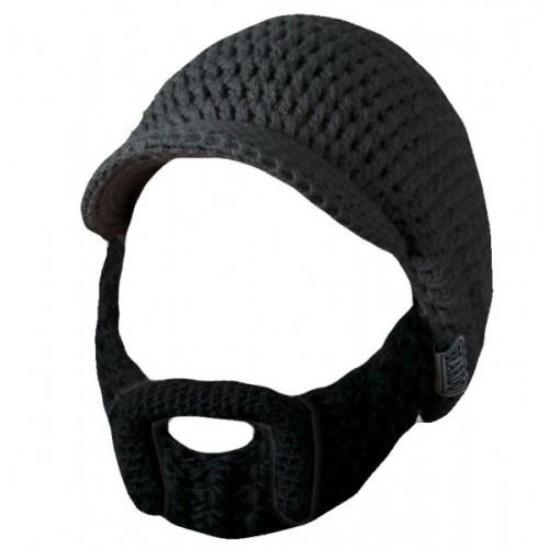 Beardo Barba Nera con Baffi Modellabili Cappello Grigio