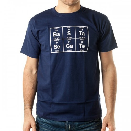 T-shirt Basta segate tavola periodica