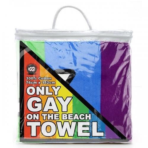 Asciugamano arcobaleno solo Gay sulla spiaggia
