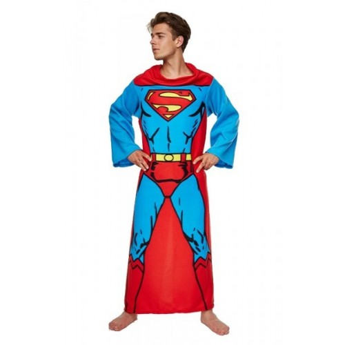 Coperta con le maniche Superman in pile